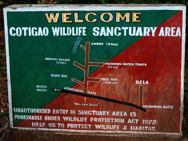 Cotigao Wildlife Sanctuary Tourism Details
