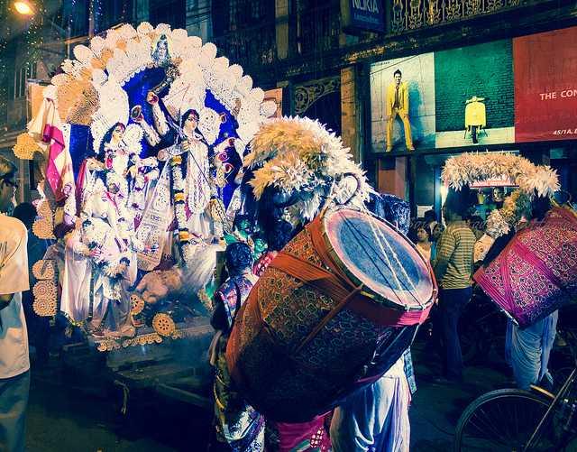 The Procession of Goddess Durga