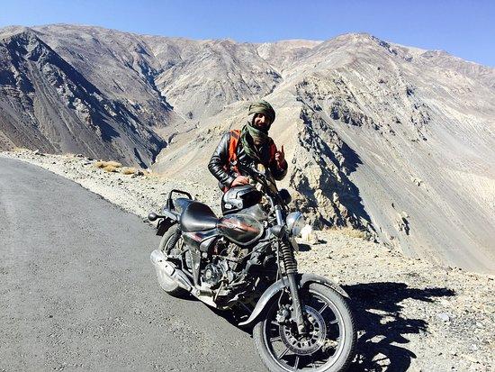 bike riding in Spiti Valley